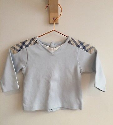 Burberry Baby Top - 3-6 Months - In Great Condition - Ice Blue - Designer