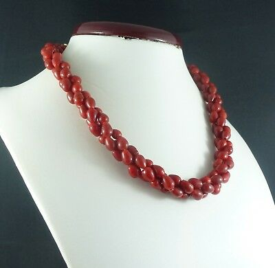 1960's vintage Italian red glass necklace