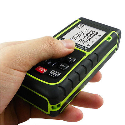 60m/196ft Handheld Digital Laser Point Distance Meter Measure Tape Range Finder