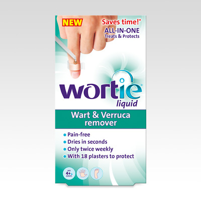 Wortie Liquid Wart & Verruca remover-Pain-free and fast treatment