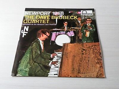 The Dave Brubeck Quartet Newport 1958 Lp Uk Fontana 1959 Mono Early Press