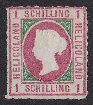 HELIGOLAND 1867 QV 1 sch SCARCE GENUINE!