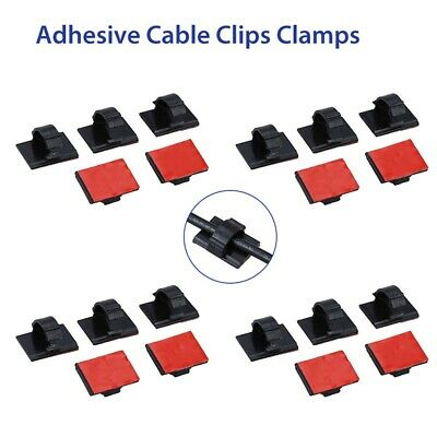 3M Self-Adhesive Wire Tie Cable Clamp Clip Holder 20pcs For Car Dash Camera