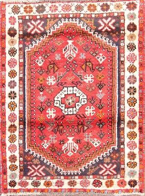 Geometric Tribal 2x3 Shiraz Abadeh Persian Area Rug Oriental Carpet 3' 3 x 2' 6