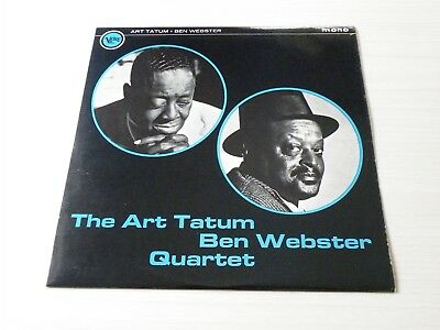The Art Tatum - Ben Webster Quartet Lp Uk Verve 1965 Mono Early Press