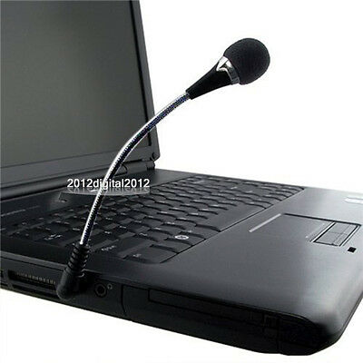 3.5mm Flexible Mini Microphone MIC for PC Laptop/Notebook Computer Skype