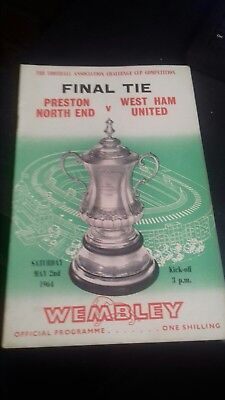 Fa cup final programme PRESTON V WEST HAM 1964