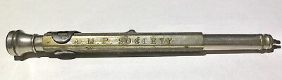 Vintage 1926 Mechanical Pencil - E Faber- A.M.P Society - Leading Life Office