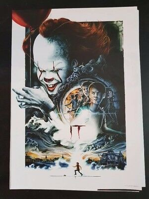 IT Movie Stephen King 2017 A3 Film Poster Odeon Midnight Screening Pennywise