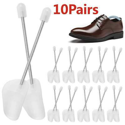 10 x PAIRS OF SHOE TREE TREES PLASTIC MAINTAIN SHAPE SHOES FOOTWEAR WHITE UK