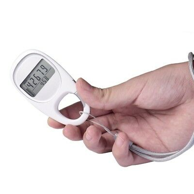 Walking Pedometer 3D Carabiner Activity Fitness Tracker with 7-Day Memory, Slien