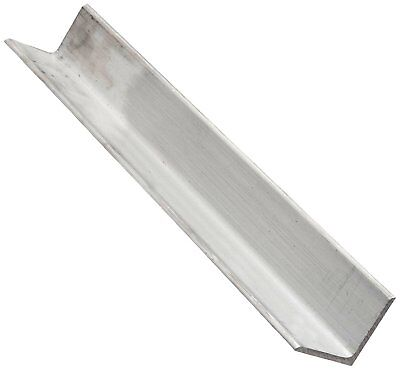 6063 Aluminum Angle, Unpolished Mill Finish, Extruded, T52 Temper, AMS QQ-A-200,