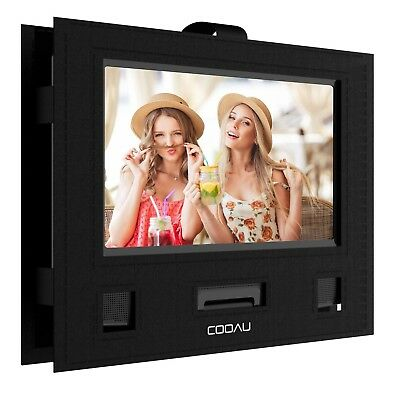 "COOAU Car Headrest Mount Holder Hands-free Carry Case for 9"" - 9.5"" Portable DVD"