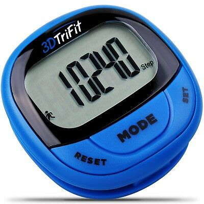 3DTriFit 3D Pedometer Activity Tracker | Best Pedometer for Walking with Pause F
