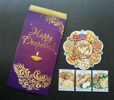 Malaysia Indian Festival Food 2017 Cuisine Delight Diwali (stamp +ms) MNH *odd