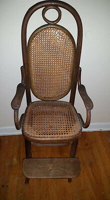 Antique Thonet Bentwood Cane High Chair