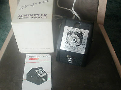 vintage corfield lumimeter enlarging exposure meter