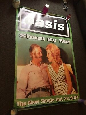Oasis-Stand By Me-huge Promo Poster-rare  1997 unused In Exc Con- UK post only