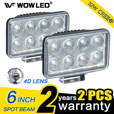WOW - 32W 120W 4D Lens LED Work Lights 12V 24V Bar Spotlight Combo Driving Lamp