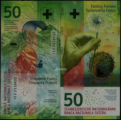 Switzerland Swiss 2016 New Issued Banknotes 50 Francs UNC