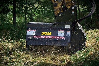 New Digga Hydraulic Flail/mulcher/forestry/mower Suit Approx 3-6T Excavators