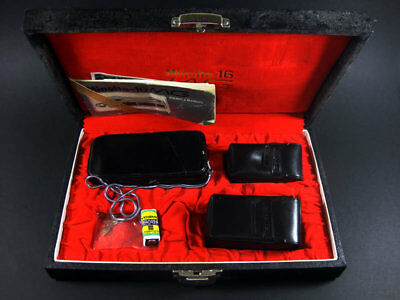Minolta-16Mg Subminiature Spy Camera + Case + Filters + Instructions / Japan