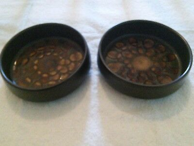 """TWO Denby Arabesque Small 6 1/2 """" Serving Bowls"""