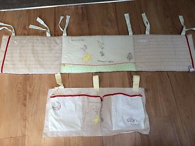 Mothercare Cot Bumper And Cot Tidy Winnie The Pooh