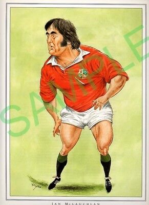 Framed picture Ian McLauchlan by John Ireland, Rugby