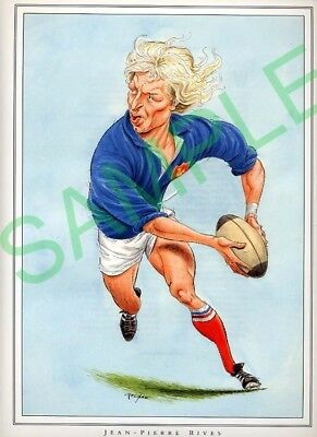 Framed picture Jean-Pierre Rives, John Ireland Rugby