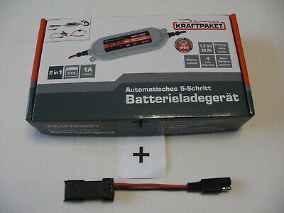 DUCATI Batterie Ladegerät 6/12V + Adapter DATA-Steck Monster 696 795 796 797 821