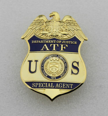 US ALCOHOL Special Agent Metal BADGE PIN PROPS COLLECTION Halloween ATF Badge