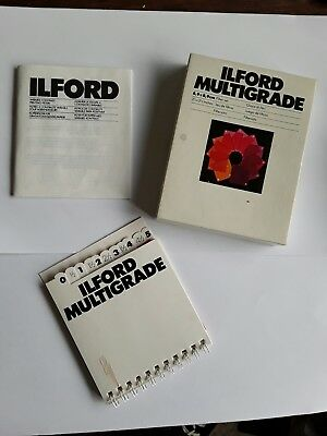 Set of 12 Ilford Multigrade Square Filters for Darkroom contrast control.