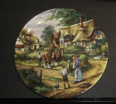 """Wedgwood Collector Plate By Chris Howells Country Days– """"Ploughing"""""""