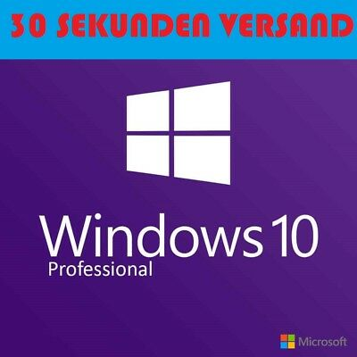 Windows 10 Professional VOLLVERSION Win 10 Pro OEM KEY Lizenzschlüssel