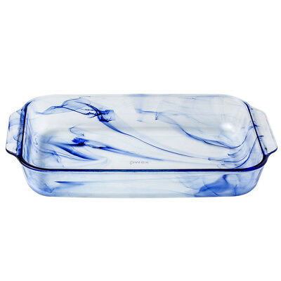 NEW Pyrex Watercolor Collection Blue Lagoon Oblong Baking Dish