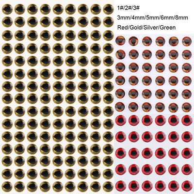 100-500Pcs 3/4/5/6/8mm 3D Holographic Fishing Lure Eyes Fly Tying Jigs Crafts