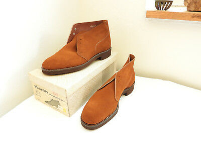 Boxed Pair Vintage Men's Brown Shoes Leather Boots Simpson Churches 7 1/2 (4924)