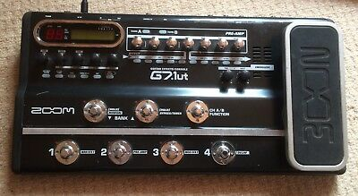 ZOOM G7.1ut Guitar Effects Pedal & USB interface with power supply