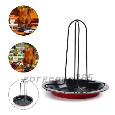 Barbecue Vertical Chicken Roaster Grill Stand Cooker Holder BBQ Home Tools