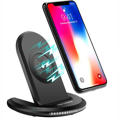 For iPhone 8 Plus / X / Note 8 S8+ Qi Wireless Fast Charger Rapid Charging Stand