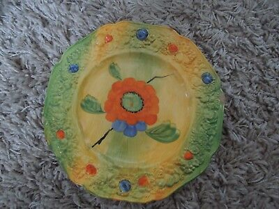 Crown Ducal Plate. Art Deco. Florentine. Hand Painted. England. Collectable.