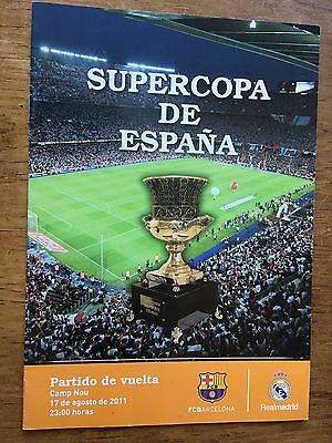 Programme Official Final Super Cup Barcelona Real Madrid 2011 Nou Camp
