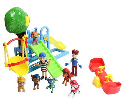 8 PCS PATROL Park Playground Chase Rubble Katie Ryder Figures Kids XMASGift Toys