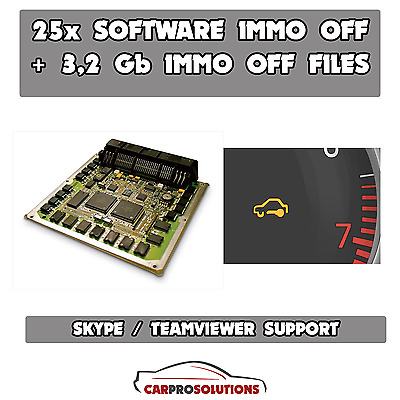 28x SOFTWARE Best Immo OFF Remove Decode Repair Pin Code +3,2 Gb Immo Off Files