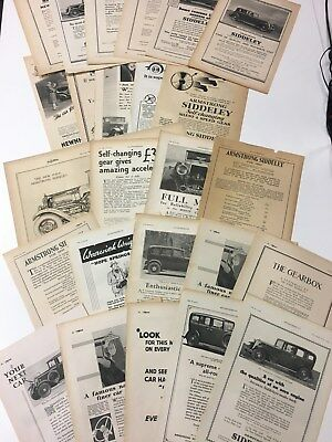 x25 ARMSTRONG SIDDELEY 1930 - 1933 Very Rare Original B&W Vintage Car Adverts L2