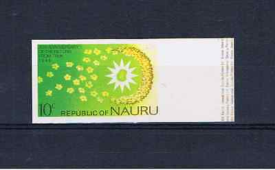 NAURU 1976 10c Return from Truk Imperforate single