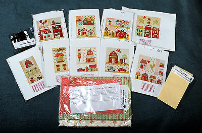 MODA Fabric Tiny Town Applique Quilt Kit & Pattern by Bunny Hill Design BOM Kit