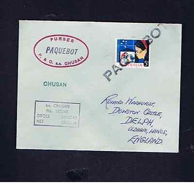 Australia Stamp On Paquebot Cover