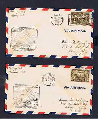 Canada 1929 Air Pageant Covers